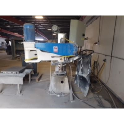 Floor mounted heavy duty face polishing machine