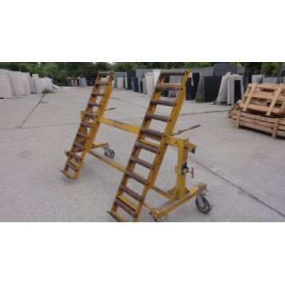 Tilting loading slab trolley
