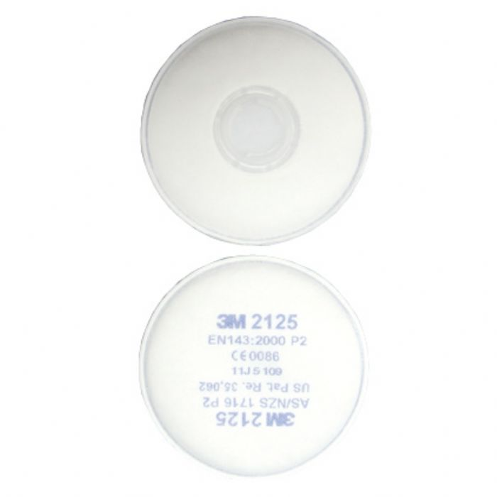 3M 2125 Changeable Filters (To fit Rubber Half Mask Respirator)